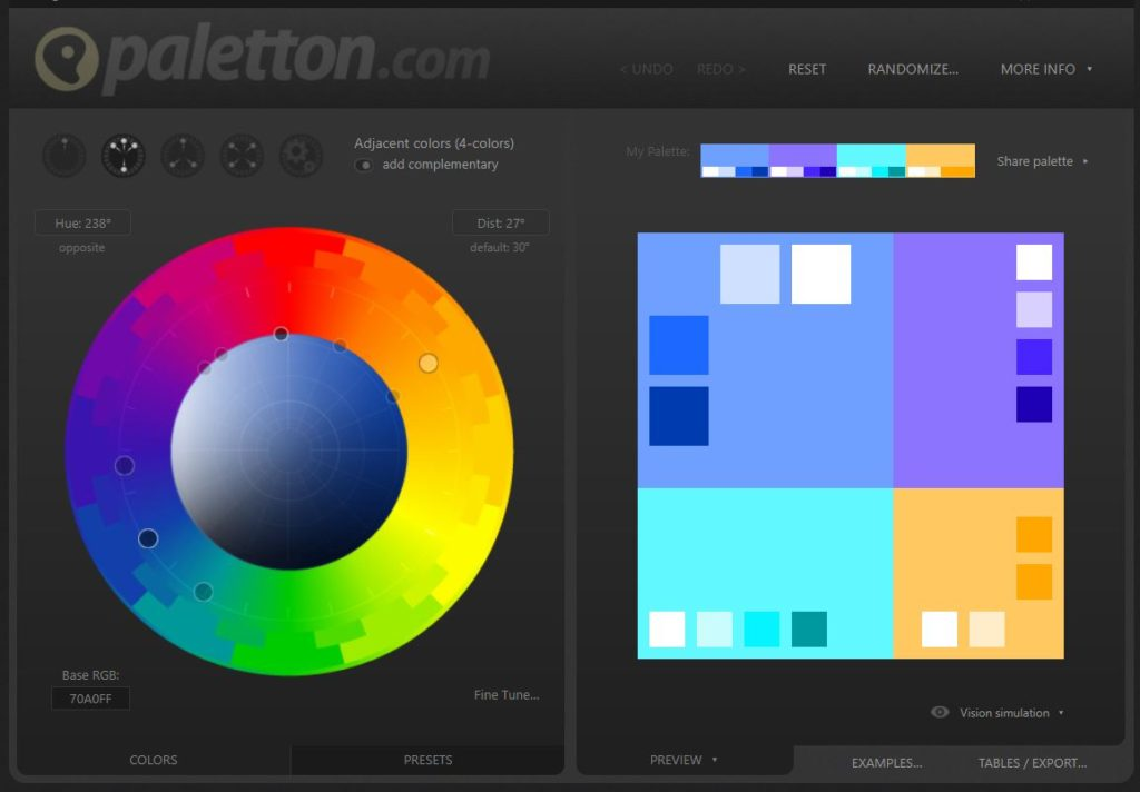 Sometimes color theory is hard to understand without playing with colors. Go to paletton.com and play a bit with this tool to see how colors can compliment each other.