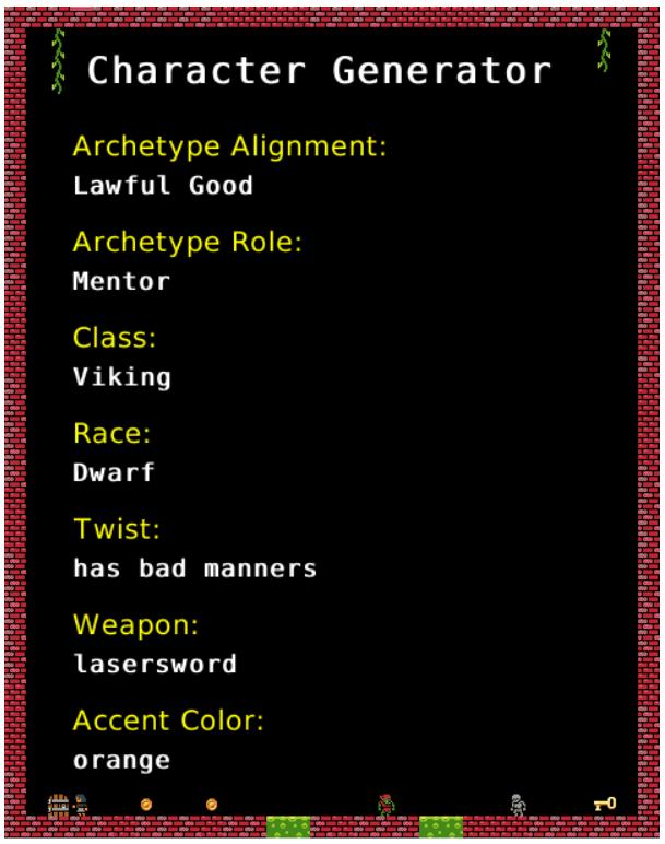 Character Race Generator